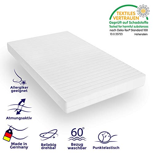 Mister Sandman orthopädische 7-Zonen-Matratze für besseren Schlaf - Kaltschaummatratze H2 - H3 mit ergonomischen Liegezonen und Mikrofaserbezug (H2H3, 90 x 220 cm)