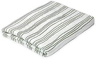 Oliver & Rain Baby Swaddle Blanket - Newborn 100% Organic Cotton Muslin, Green Stripe
