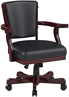 Mitchell Upholstered Arm Game Chair Chesnut and Black