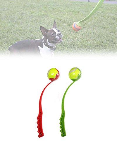 Hunde Ballwerfer Hundespielzeug Ballschleuder Tennisballschleuder Werfer Apportierspielzeug inkl. Tennisball Ball