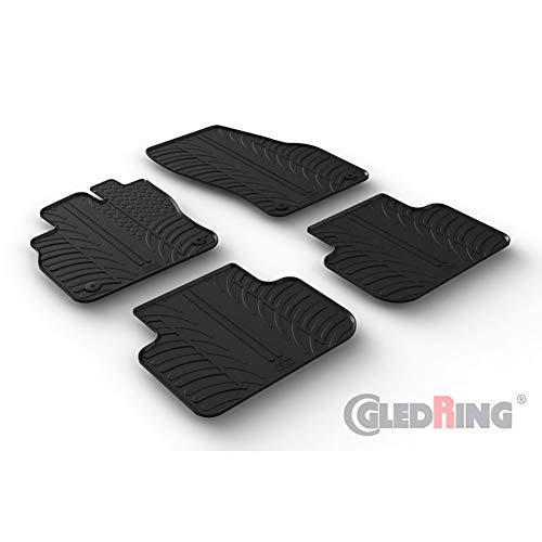 2011-2017 Premium Velours Anthrazit  4X Clip Fußmatten für Audi Q3 Typ 8U Bj