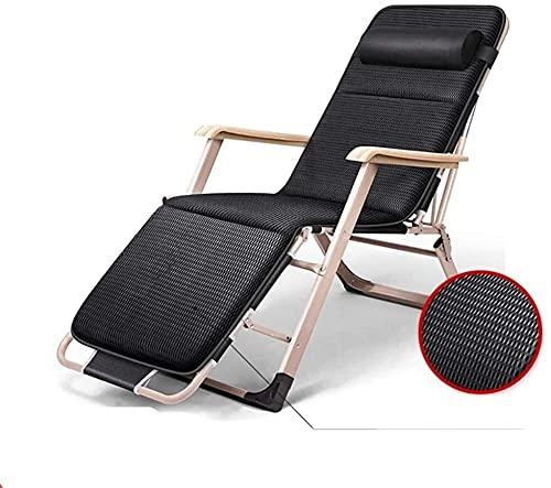 Silla de gravedad cero silla reclinable silla plegable sillón sillón sillón reclinable sillas plegables al aire libre reposacabezas desmontable, viaje, hogar, al aire libre, reclinable portátil, cojín