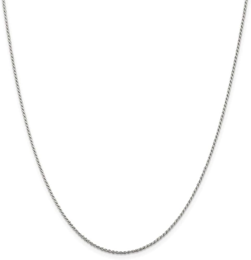 925 Import Sterling Silver Rhodium plated Neckla Rope Cut Sparkle Chain Bargain