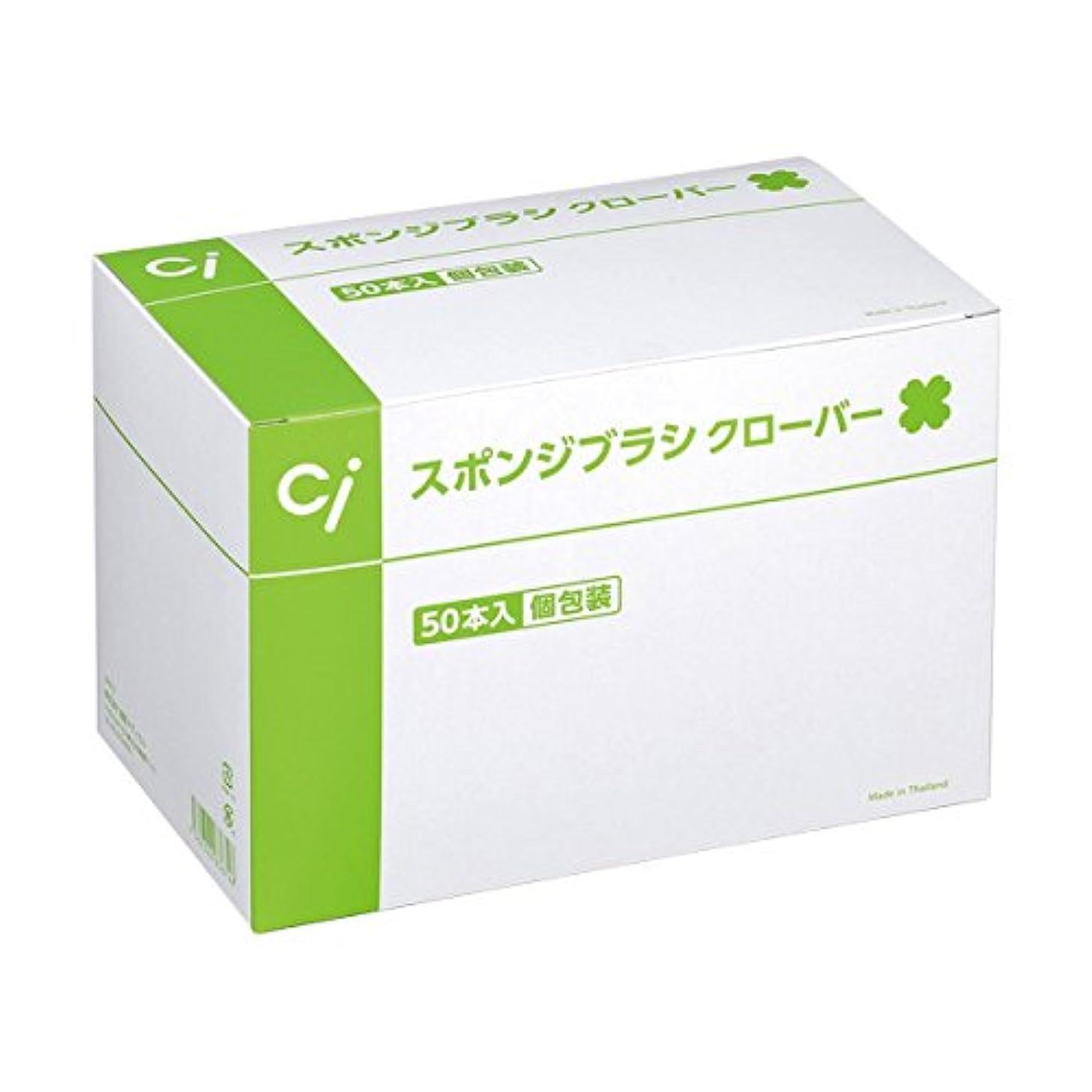 愛情深い債務雄大なCi スポンジブラシ クローバー(50本入)