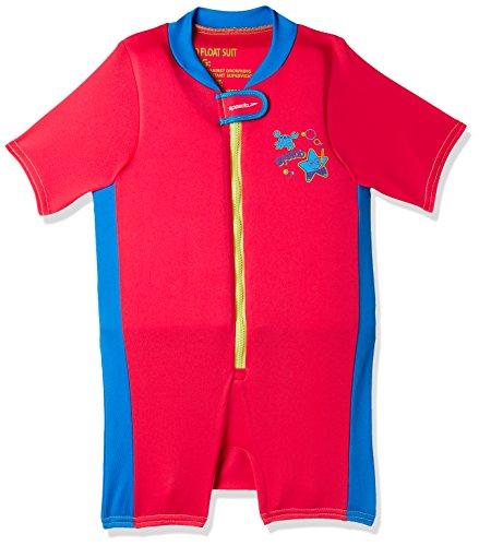 Speedo Sea Squad Float Suit Neoprenanzug, Unisex Kinder XS rot/blau (Lava red/Neon Blue)
