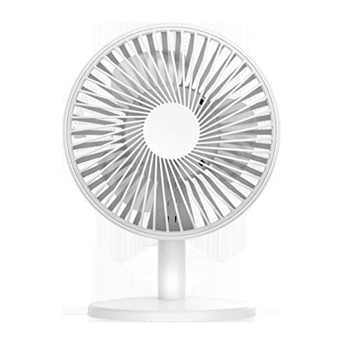 JUSEN Quiet Desk Fan, Rechargeable Fan Portable Handheld Personal Mini USB Fan with 2000Mah Battery, Or Home, Travel, Camping, Pushchairs, Buggy, Car,White