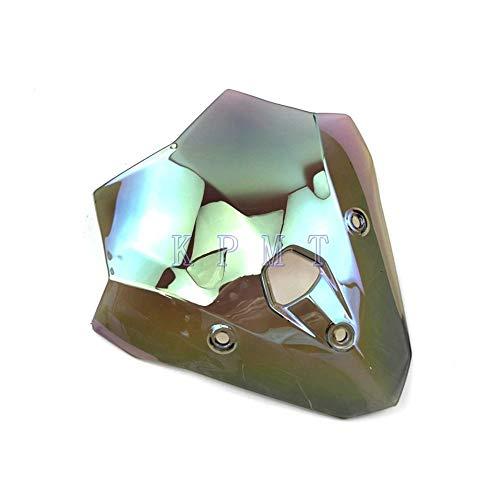 GIAO Windschild Double Bubble, Fit für F900R 2020 F900 R 2020 Motorrad Kunststoff Smoke Windschutzscheibe Baffle Wind Deflectors Motorrad Spoiler Windschutzscheibe Spoiler (Farbe: Clear Iridium )