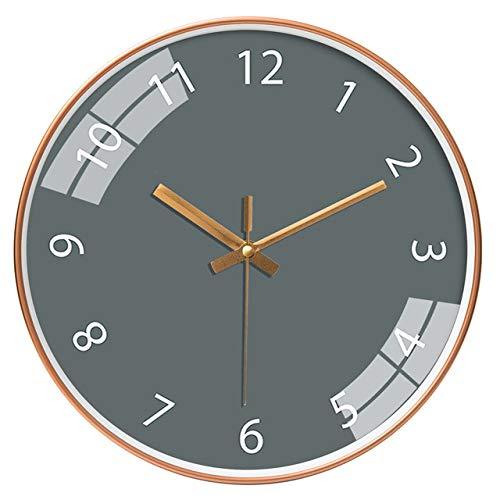 ZHXH [12 Zoll 30cm Wohnzimmer Schlafzimmer Moderne Einfache Kreative Mode Einfarbige Uhr Stumme Quarzuhr Wanduhr