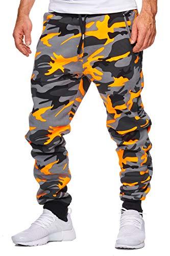 OneRedox Herren Jogging Hose Jogger Streetwear Sporthose Modell 794 (XL (Fällt eine Nummer Kleiner aus), Orange)