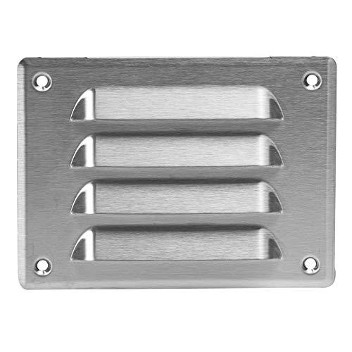 Rejilla de ventilación de acero inoxidable con protección contra insectos, 140 x 105 mm, rejilla de ventilación, protección contra la intemperie