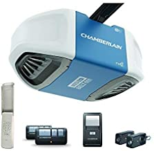 Chamberlain B550 Smart Garage Door Opener- myQ Smartphone Controlled - Ultra Quiet & Strong Belt Drive with MED Lifting Power, Wireless Keypad Included, Blue
