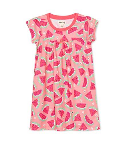 Hatley Girls' Short Sleeve Nightgown, Watermelon Slices, 3 Years