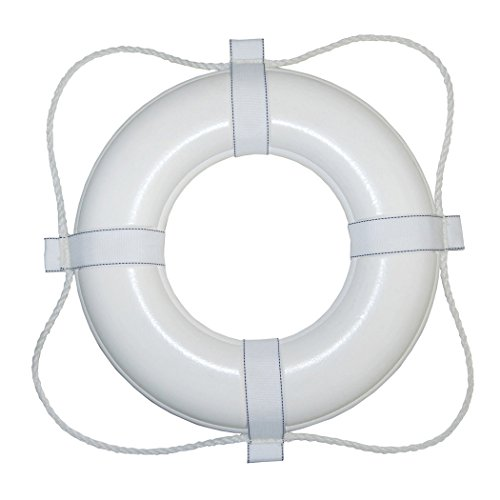 """Taylor Made Products 365 USCG Approved Foam Life Ring (20"""", White)"""