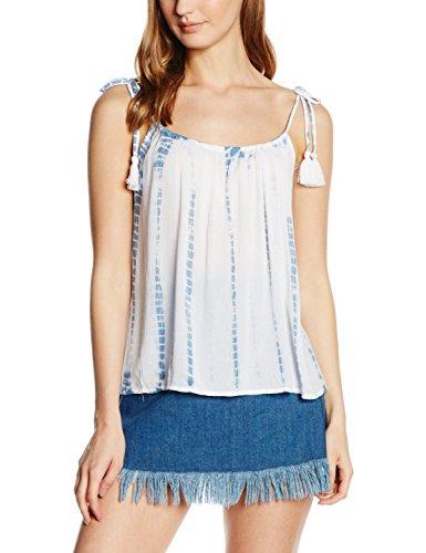 New Look Strap Cami Camiseta sin Mangas, Azul (Blue Pattern), 38 para Mujer