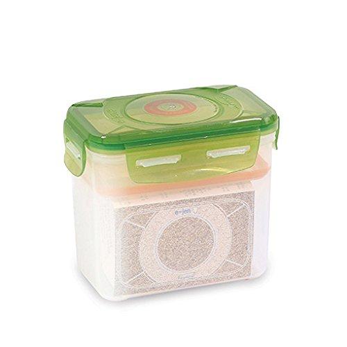 E-Jen Premium Kimchi, Sauerkraut Container Probiotic Fermentation with Inner Vacuum Lid (Earthenware Green, 0.45 gal/ 1.7L)