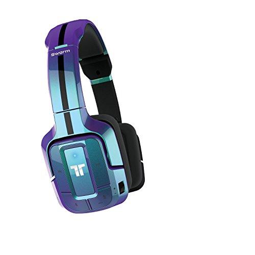 Mad Catz - Auricular Tritton Swarm Bluetooth, Color Azul Metalizado