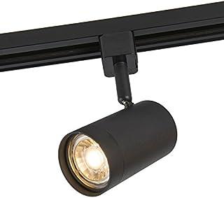 Qazqa Spot au Plafond | Éclairage de plafond Moderne - Jeana Lampe Noir - GU10 - Convient pour LED - 1 x 50 Watt