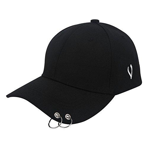 VGEBY1 Baseball Kappe, Unisex Basecap Damen Herren Kappe Baseball Cap Mütze für Sport Outdoor(Schwarz)