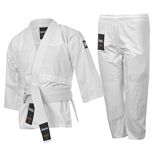Lonsdale Junior Jongens MMA Trainingsjas Riem Broek Judo Suit (9-10 jaar, wit)