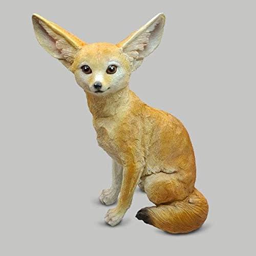 "Tampa Mall 18.5"" Max 51% OFF Fennec Fox Figurine Statue"