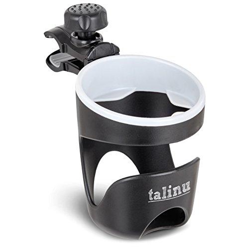 TALINU Getränkehalter für Kinderwagen und Buggy – universell einsetzbar und stabil – passend für Babyflaschen, Trinkflaschen und Kaffeebecher mit einem Durchmesser von 60-80mm