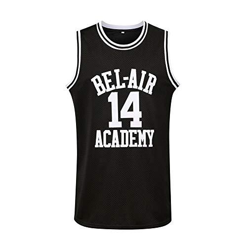Generies #14 The Fresh Prince of Bel Air Academy Men Basketball Jersey, Black XXXL
