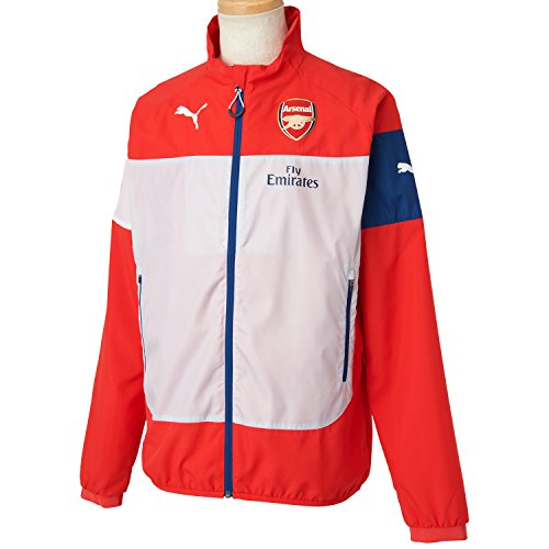 PUMA Herren Jacke AFC Leisure Jacket With Sponsor, High Risk Red-Gray Dawn-Estate Blue-White, XL