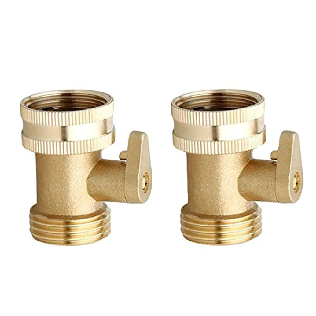 Hanobo Heavy Duty Brass Garden Hose Connector with Shut Off Valve