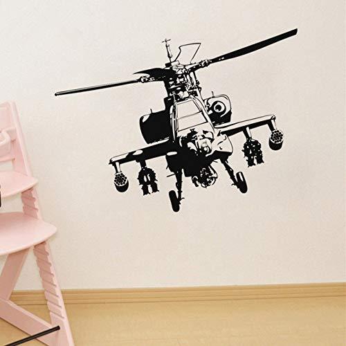 wZUN Sofá Fondo Etiqueta de la Pared Vinilo Helicóptero Militar Adhesivo Etiqueta de la Pared Mural Decoración para el hogar Cartel 70x91cm