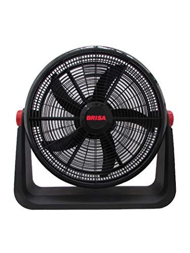 BRISA Ventilador 2 en 1 (Piso y Pared) Modelo MF-20, 100% Plástico, Inclinación Ajustable, Motor con Protección Térmica y Alambre...