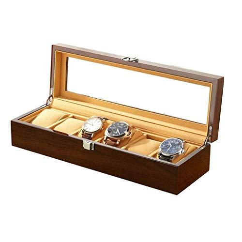 pojhf GYDSSH Caja de Reloj de almacenaje de la joyería, Reloj Organizador, Caso de Almacenamiento de 6 Ranura, Regalos Regalos de cumpleaños for Hombres y Mujeres