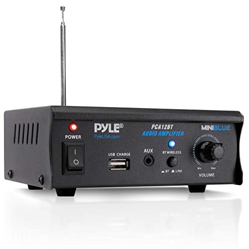 Pyle PCA12BT 2 x 25 W Bluetooth Stereo Power Amplifier AUX-In USB Charge...