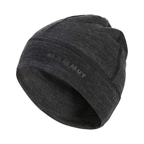 Mammut Merino Helmet Beanie, Black Melange, One Size