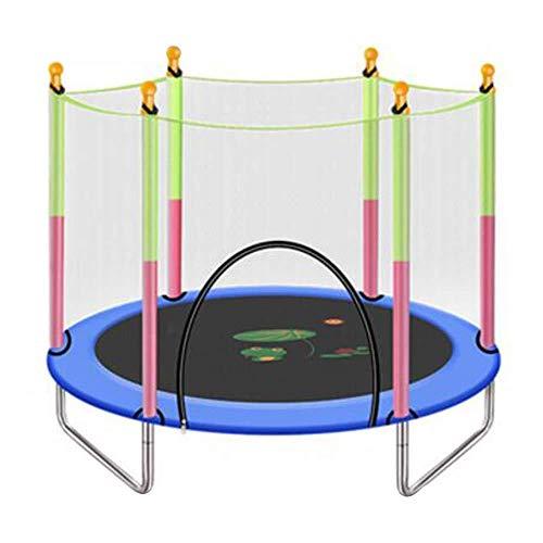 ZCXBHD Garden Trampoline Trampoline,Kids Trampoline With Safety Enclosure Net Great Outdoor Backyard Trampoline 5 Color 55 × 49 Inch,Blue