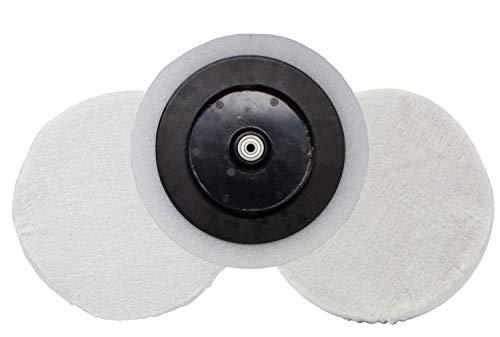 Parkside Juego de pulido para pulidora PWP 90 B2 - LIDL IAN 104097, 273271 plato de pulido, campana de rizo, cubierta de piel sintética
