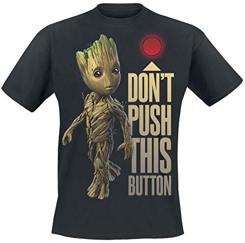 Les Gardiens De La Galaxie Les Gardiens de la Galaxie 2 - Groot - Button Homme T-Shirt Manches Courtes Noir L