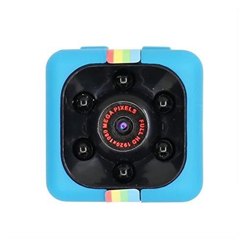 SYLOZ-URG Mini cámara Detección de Movimiento Secreto DVR Micro Camera Deporte DV HD 1080P Visión Nocturna Video Video Ultra pequeña CAM SYLOZ-URG (Color : Blue Add 16GB)