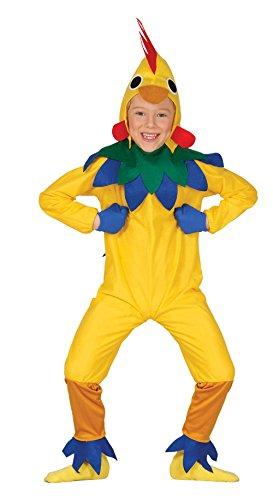 Guirca - Disfraz de pollito, para niños de 3-4 años, color amarillo (83288)