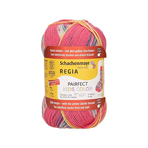 REGIA 4-fädig Design Line by ARNE & CARLOS Kids 9801171-02986 ida color Handstrickgarn, Sockengarn, 60g Knäuel