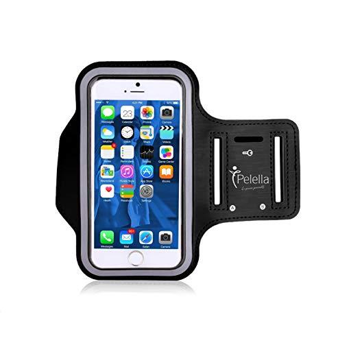 PELELLA Portacellulare porta cellulare I-phone per correre Universale 6.5  per Samsung con Cinturino fascia da braccio, Huawei, Xiaomi, OnePlus, RedMi, Note, Pro, Samsung, Max