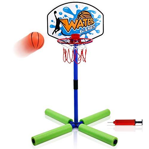yoptote Canestro Basket Galleggiante Basket Pallone Galleggiante Outdoor Fun Ball Giocattolo della Piscina Sport Galleggiante Giochi Estivo per Bambini