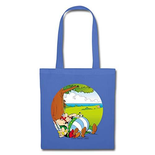 Spreadshirt Asterix & Obelix Machen Siesta Mit Idefix Stoffbeutel, Hellblau