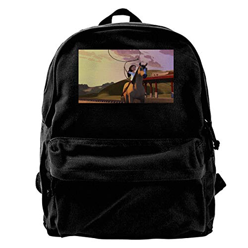 Featured Cotton Spirit Stallion Of The Cimarron Casual Backpack Printed Rucksack College Backpack