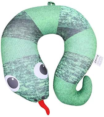 Green Snake Animal Neck Travel Pillow Comfort U Shaped Travelling Pillow in Airplane Car for product image