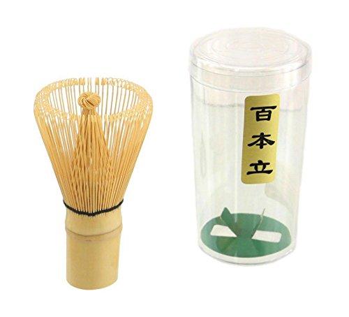 Matcha Whisk Bamboo Brush Japanese Chasen for Matcha Green Tea Powder 100 Prong
