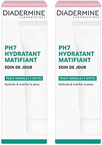 Diadermine tagescreme ph7 - Tag feuchtigkeitsspendende Matte - 50 ml Charge von 2