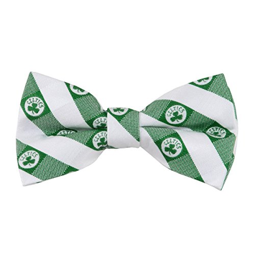 Boston Celtics Checked Logo Bow Tie - NBA Basketball Team Logo