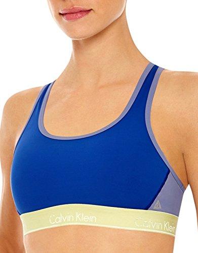 Calvin Klein Flex Motion - Sujetador deportivo de impacto medio - Azul - Large