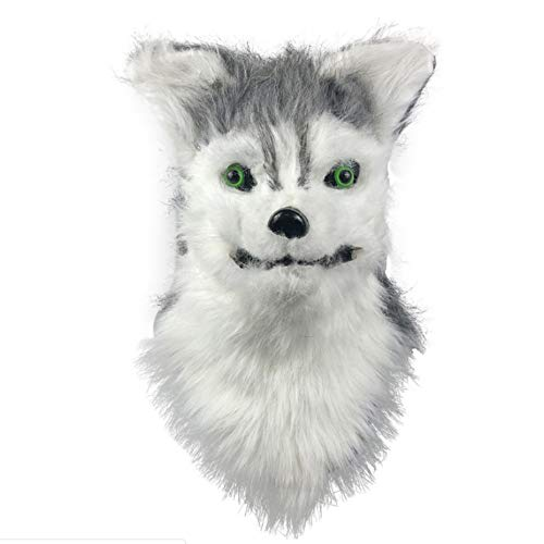 Halloween Costume Funny Dog Full Head Mask Masquerade Party Performance Props Latex Furry Animal Head Toys