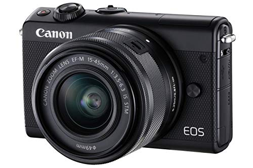 Canon EOS M100 with EF-M 15 - 45 mm lens - Bl